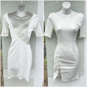 Ivory Cut-out Bodycon Dress NWOT